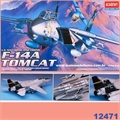 F-14 A TOMCAT U.S. NAVY SWING-WING Fighter - Academy - 1/72