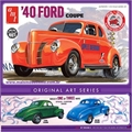 1940 - FORD Coupe Laranja - AMT - 1/25