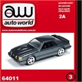 1984 - Ford MUSTANG SVO Cinza - Auto World - 1/64