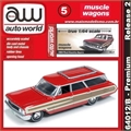 1964 - Ford COUNTRY Squire Vermelho - Auto World - 1/64