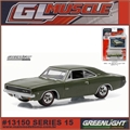 GLMUSCLE 15 - 1968 Dodge Hemi CHARGER R/T - Greenlight - 1/64