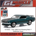 GLMUSCLE 15 - 1969 Ford MUSTANG Mach 1 - Greenlight - 1/64
