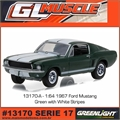 GLMUSCLE 17 - 1967 Ford MUSTANG Verde - Greenlight - 1/64