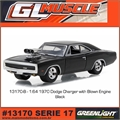 GLMUSCLE 17 - 1970 Dodge CHARGER Blower - Greenlight - 1/64
