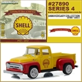 1956 - Ford F-100 Pickup SHELL OIL - Greenlight - 1/64