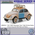 1948 Volkswagen FUSCA Type 1 Split Window - Greenlight V-DUB - 1/64