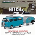 1972 Volkswagen KOMBI and Trailer - Greenlight Hitch and Tow - 1/64