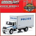 INTERNATIONAL DuraStar Box Police NYPD - Greenlight - 1/64