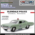 HP 18 - 1967 Chevrolet Biscayne GLENDALE Police - Greenlight - 1/64