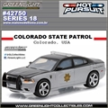 HP 18 - 2012 Dodge Charger COLORADO STATE Police - Greenlight - 1/64