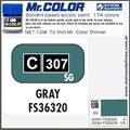 Tinta Gunze Acrílica Mr Color C307 CINZA FS36320 Semi-Brilho - 10ml