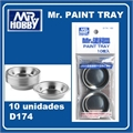 Mr PAINT TRAY (10 unidades) - Mr Hobby - Gunze