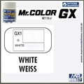 Tinta Gunze  Mr Color GX 1 BRANCO COOL Extra-Brilho - 18ml