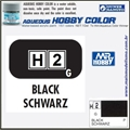 Tinta Gunze Acrílica H  2 PRETO Brilho - Mr Hobby - 10ml