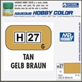 Tinta Gunze Acrílica H 27 TAN Brilho - Mr Hobby - 10ml