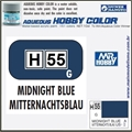 Tinta Gunze Acrílica H 55 MIDNIGHT BLUE Brilho - Mr Hobby - 10ml