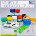 CONJ Tintas Aqueous Hobby Color HS-30 Brilho - SET Gunze (8 x 10ml)