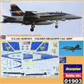 F/A-18C HORNET GOLDEN DRAGONS CAG 2009 - Hasegawa - 1/72