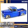1955 - CHEVY STEPSIDE PICKUP AZUL - Jada - 1/24