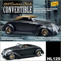 1937 - Ford Custom Convertible - Lindberg - 1/24