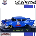 1957 - Chevrolet 150 R15 Azul - M2 Machines - 1/64