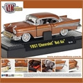 1957 - CHEVROLET BEL AIR OURO - M2M - 1/64
