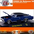 1966 - Dodge CHARGER 383 R34 Azul - M2 Machines - 1/64