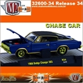 1966 - Dodge CHARGER 383 R34 Azul CHASE CAR - M2 Machines - 1/64