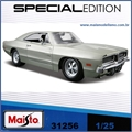 1969 - DODGE CHARGER R/T Cinza - Maisto - 1/25