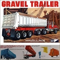 Carreta GRAVEL TRAILER - MPC - 1/25