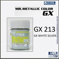 Tinta Gunze  Mr Metallic Color GX-213 Prata Branco Metálico - 18ml