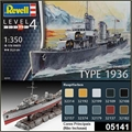 German Destroyer Type 1936 - Revell - 1/350