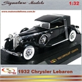 1932 - CHRYSLER LEBARON Preto - Signature - 1/32