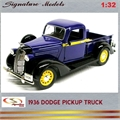 1936 - DODGE PICKUP Truck Azul - Signature - 1/32