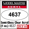 Tinta Model Master 4637 Acryl TRANSPARENTE Semi-Brilho - 29,5ml