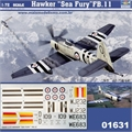 Hawker SEA FURY FB. 11 - Trumpeter - 1/72