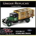1934 - BB-157 CAMINHÃO STAKE BED VERDE - Unique - 1/43