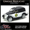 1935 - FORD SEDAN DELIVERY VAN POLICIA - Unique - 1/36