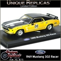 1969 - FORD MUSTANG 302 Racer 02 Amarelo - Unique - 1/36