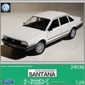 Volkswagen SANTANA Branco - Welly - 1/24