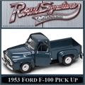 1953 - FORD F-100 PICK UP AZUL ESCURO - Yatming - 1/18