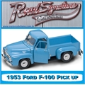1953 - FORD F-100 PICK UP AZUL CLARO - Yatming - 1/18